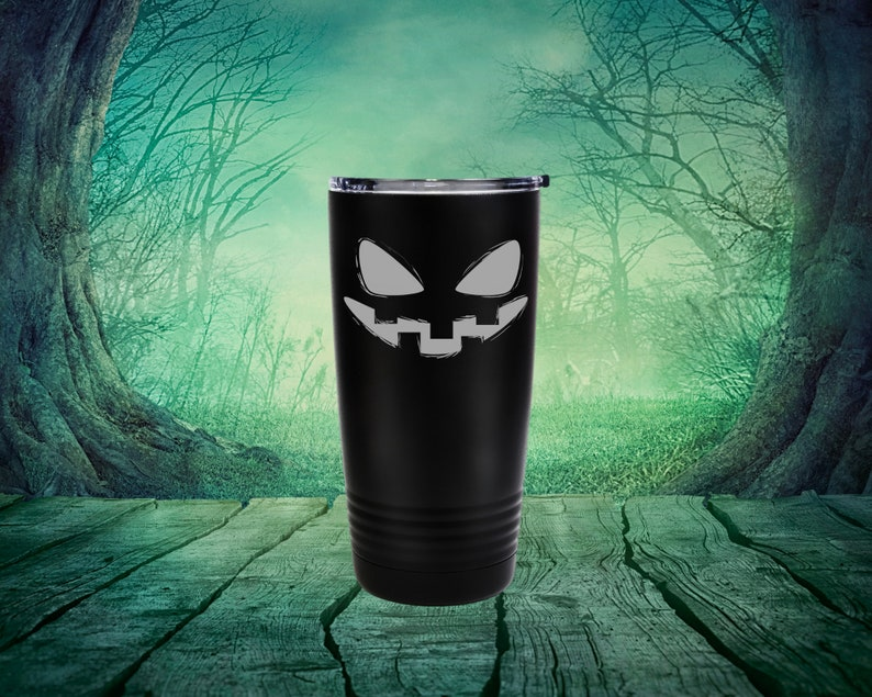 Stainless Steel Travel Tumbler Jack O/'Lantern Tumbler Halloween Tumbler Spooky Tumbler Tall Tumbler 20 oz