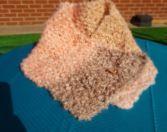 Crocheted Wrap: Pink and Gray
