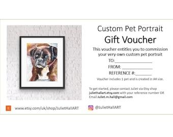 Custom Portrait Gift Voucher - Unique Gift Idea