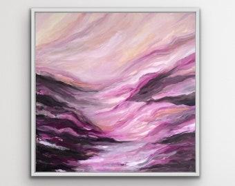 Original Oil Painting - 'Path Untaken' - Framed 95cm x 95cm