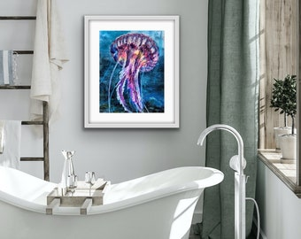 Signed fine art giclée print 'Jellyfish in the Deep'