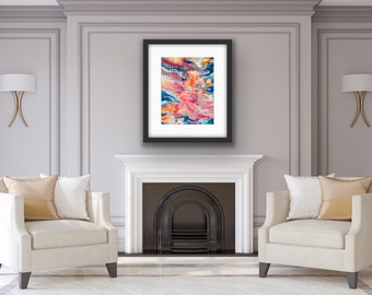 Bright Abstract Painting, Sunset Painting, Home Decor, Living Room  Decor- 'Breaking Through'