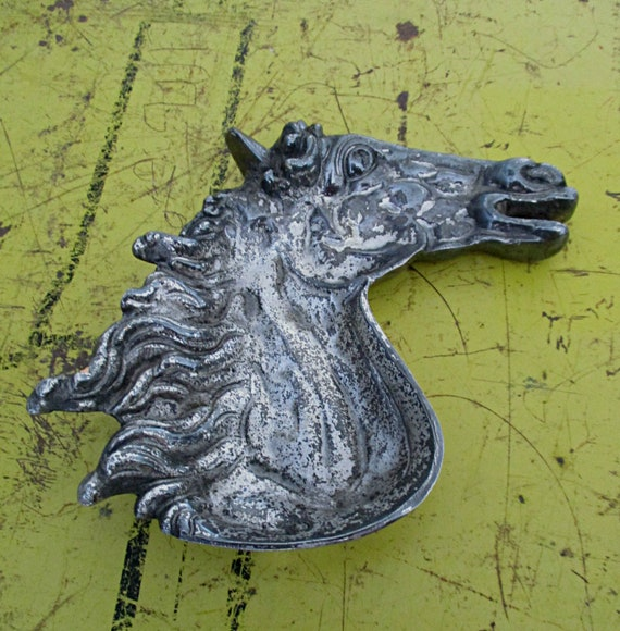 Vintage ring dish , horse head ring dish by ,eques