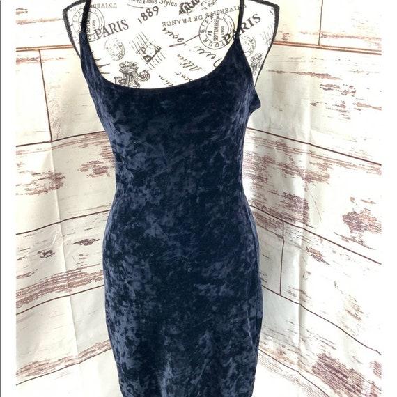 Lip Service Goth Vintage Black Velvet Dress Large