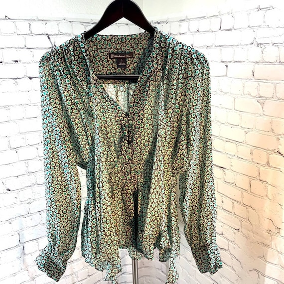 Celia Birtwell  Vintage inspired Silk Blouse L