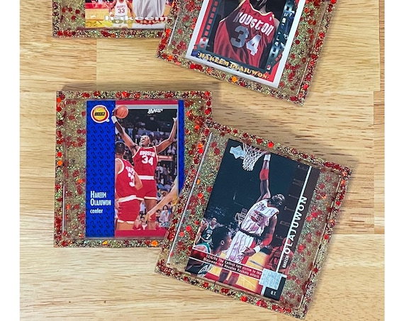 Hakeem Olajuwon Houston Rockets - 4 Coasters