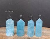 Blue Aquamarine Tower, Aquamarine Points, Calming Blue Crystal, Meditation Tool, Blue Chakra Crystal, Safe Travel Crystal, Aquarius Crystal