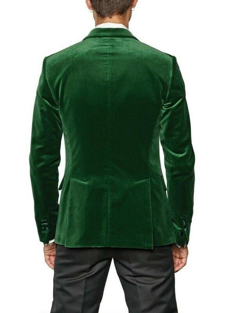 Mens Green Velvet Blazer Tuxedo Jackets Christmas Dinner Jackets Men Slim Fit Jackets Mens Wedding Jackets