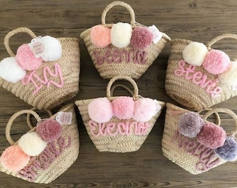 Personalized WEDDING GUEST GIFT monogram bag basket,bridal shower bags,customized straw bags,custom beach bag,straw tote,embroidered bags