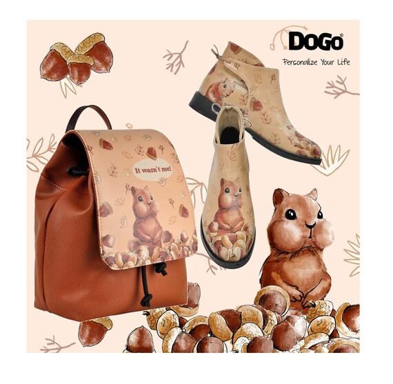 Vegan Handmade Ankle Boots DOGO Women Owl Deer Fox Kim Boot /& matching Mini Bag