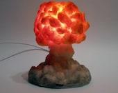 Unique LED USB Night light/Table Lamp (Small version)| Nuclear Explosion Diorama |Nuke night light | Atomic bomb diorama/lamp| Nuke mushroom