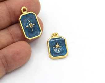18x10mm 24k Shiny Gold Plated White Stone Drop Charms Stone Drop Charm Stone Drop Findings Wholesale GLD553