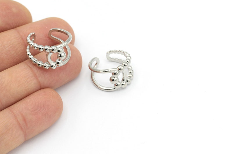 Silver Plated Adjustable Rings Whosale Rings RNG-35 Ring Settings 1 Pcs Rings For Womens Ball Rings Fashion Rings
