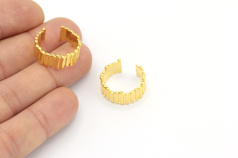 Gold Plated Minimalist Dome Ring Chunky Ring Ring Settings Whosale Ring 24k Gold Plated Adjustable Ring RNG-29 1 Pcs