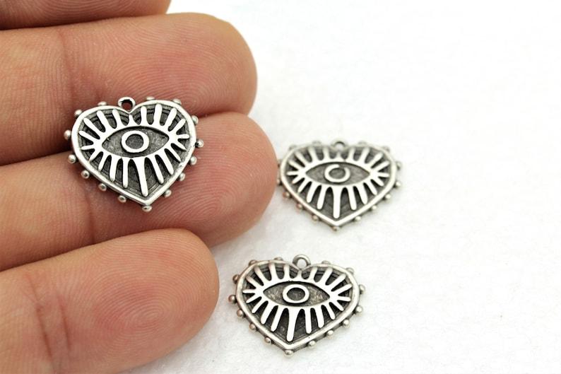 Medallion 17x18mm Antique Heart Necklace Antique Silver Heart,Antique Silver Findings ESK-11 Heart Pendant 1 pcs, Antique Charm