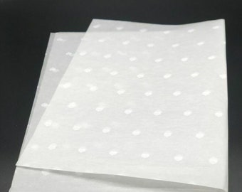 White Paper With White Hearts Tissue Paper 18gsm 500mm x 750mm