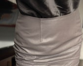 Vintage Genuine Lambskin Leather Skirt - Wise Fashion - Sustainable, Fair and Ethical
