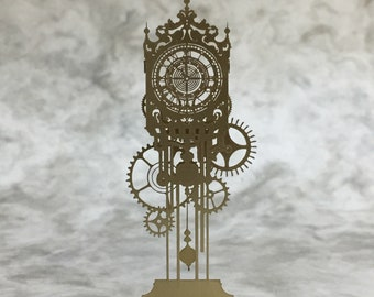 Mechanical Clock  Japanese handmade miniature small piece craft