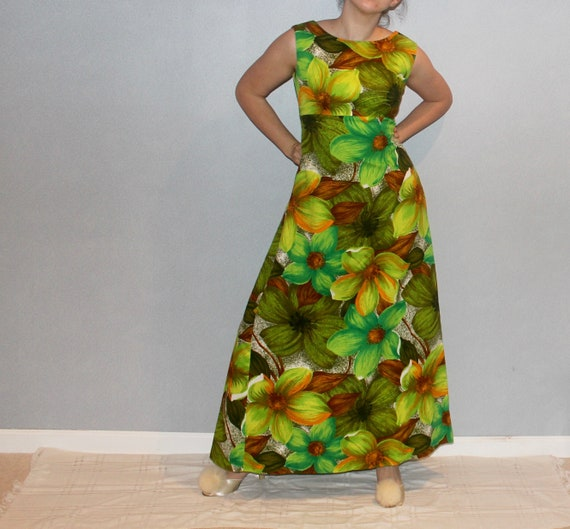 Hawaiian Floor-Length Dress