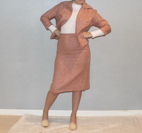 Peach Suit Set - 1950s - image 3
