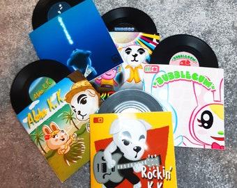 Animal Crossing New Horizons - Replica Mini KK Slider vinyl records for decoration and coasters