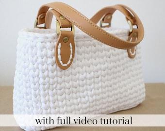 Crochet handbag pattern, white crochet handbag, crochet purse patterns, crochet bag pattern, crochet handbags, crochet bag, easy crochet