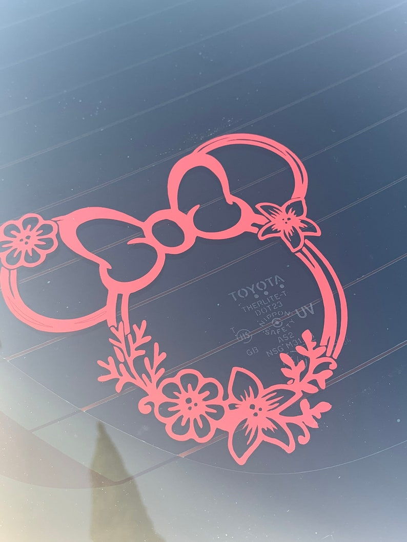 Minnie Mouse inspired car Decal