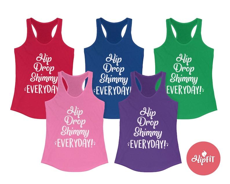 Hip Drop Shimmy everyday Shirt Bellydance top tank Bellydancing Practice wear
