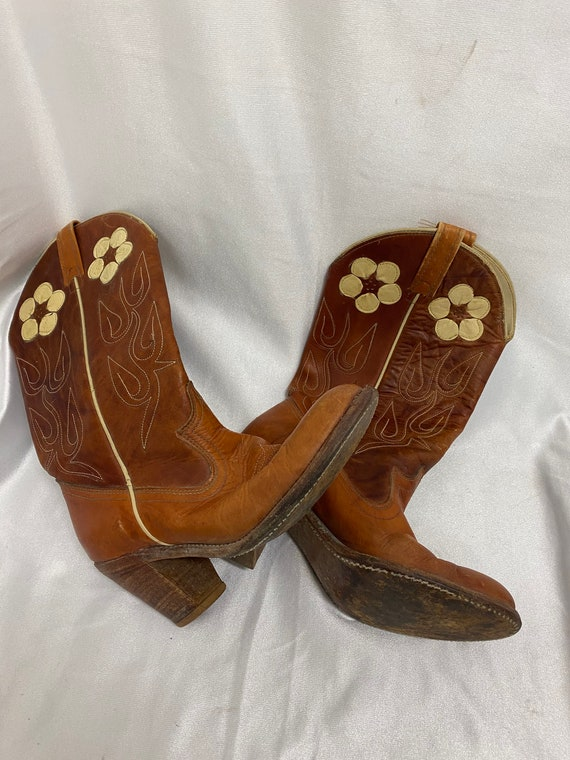 Vintage Flower Cowboy Boots