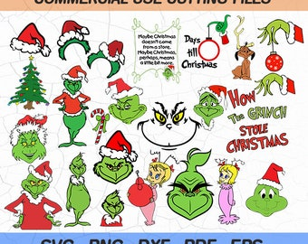 Grinch Silhouette Etsy