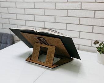 Cookbook Stand, Adjustable Book Stand, Wooden iPad holder, tablet stand, book stand, Recipe book stand, Cookbook holder