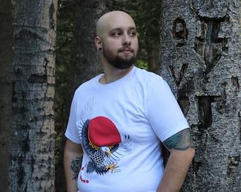 Red Sun Rising Eagle Shirt