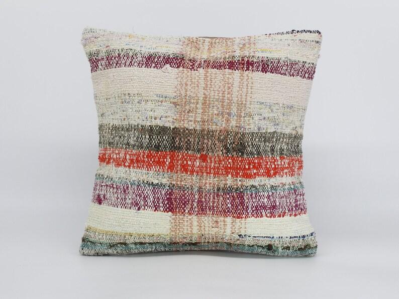 16x16  Kilim Pillow  Turkish Pillow  Handmade Pillow Anatolian Pillow  Bohemian Pillow  Decorative Pillow  Home Decor Pillow