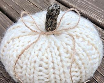 Small Hand Knit Pumpkin   Fall Decor   Thanksgiving Decor   Farmhouse Decor   Pumpkins   Halloween Decor  Fall Center Piece   Autumn Decor