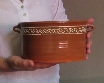 Red clay Ceramic Pot for serving Storing Traditional fruitbowl