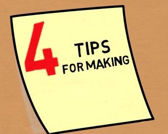 4 top tips for making business decisions  - for Social Media or Branding Explainer Video MP4 File