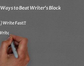 MP4 File 5 Ways to beat writer's block - for Social Media or Branding Explainer Video