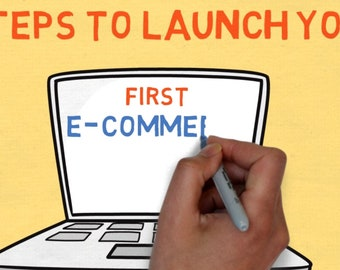 3 Steps to Launch Your First ECommerce Website - for Social Media or Branding Explainer Video MP4 File