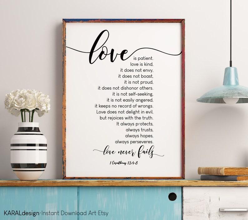 1 KORINTHER 13:4-8 Bibel-Vers Liebe ist geduldig Liebe ist