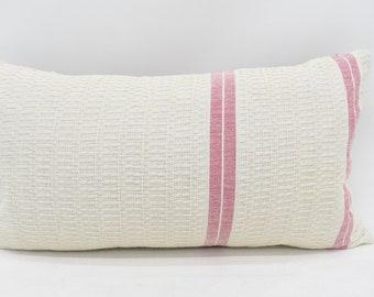 12x22 Pillow Cover Living Room Pillow Striped Pillow Outdoor Pillow Turkish Pillow Cushion Cover Mn30x55-45 Handmade Pillow 30x55 cm
