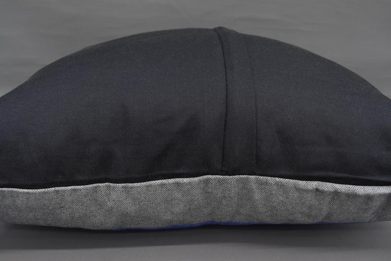 24x24 Pillow Cover Turkish Pillow Decor Pillow Mn60x60-52 Handwoven Pillow Blue and Gray Bordered Pillow 60x60 cm Living Room Pillow