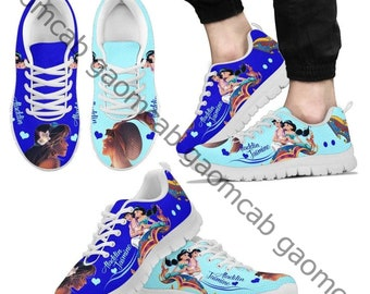 Custom Kids Aladdin Jasmine Shoes Persoanlized Sneakers High Low Tops Princess Pumps Name Genie Magical Ribbon