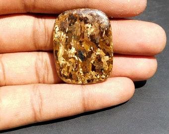 Loose Bronzite Fancy Shape Bronzite AAA Quality Bronzite Gemstone Size 37*19*5mm Weight 47Cts Bronzite Cabochon Bronzite For Pendant