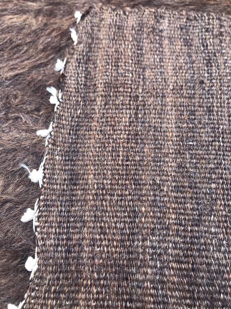 Brown vintage knitted blanket picnic blanket turkish wool blanket 6.4 x 4.9 ft crocket Blanket,Boho Decor rug, grandmother blanket