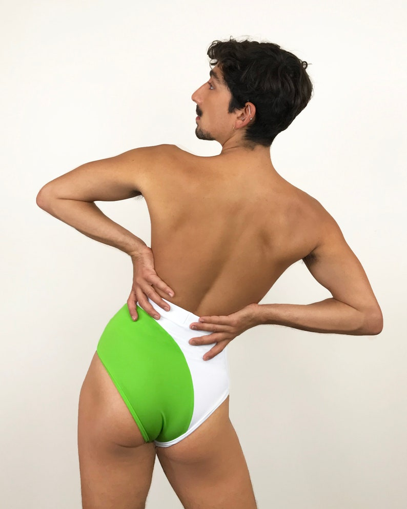 Swope High-waisted Bottoms Men/'s Green and white