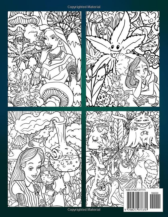 Princess Stoner Coloring Book: Great Coloring Book For Adults Etsy