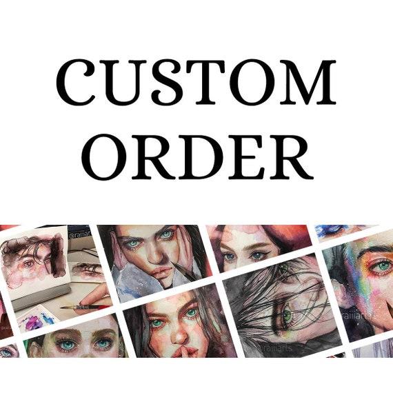 Custom Portrait From Photo, Custom Painting, Portrait Painting, Personalized Portrait, Original Painting, Watercolor Custom Portrait