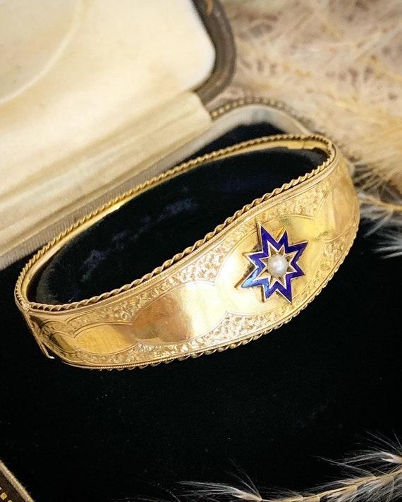 Gold Victorian Cuff Bracelet