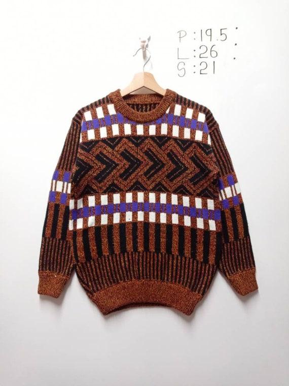 Vintage Knitwear Aztec Tribal American Native Japa