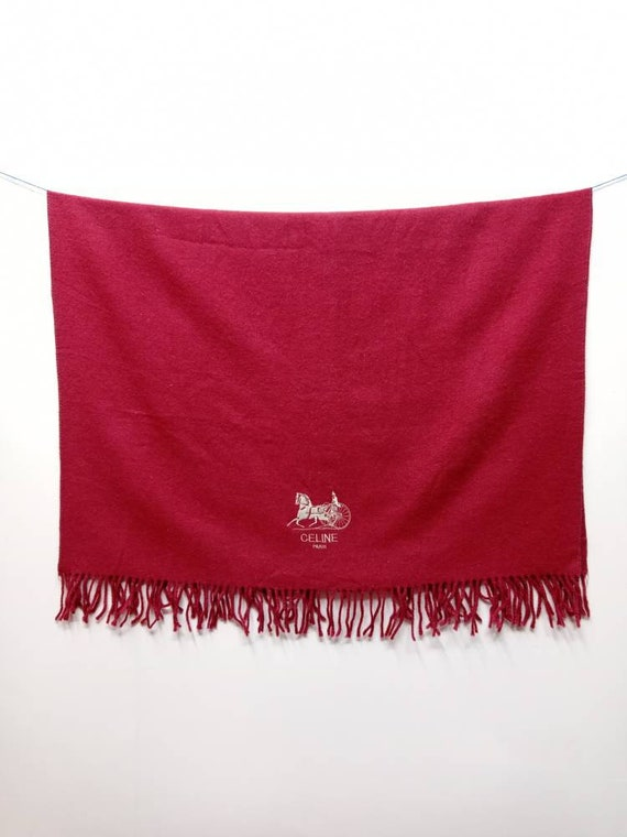 Vintage 80s Celine Paris Wool scarf One Size